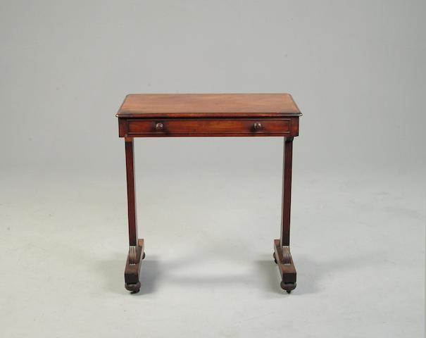 A William IV mahogany side table