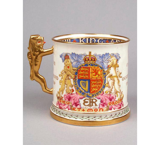 Edward VIII 1937 Coronation; a limited edition Paragon porcelain mug of large form,