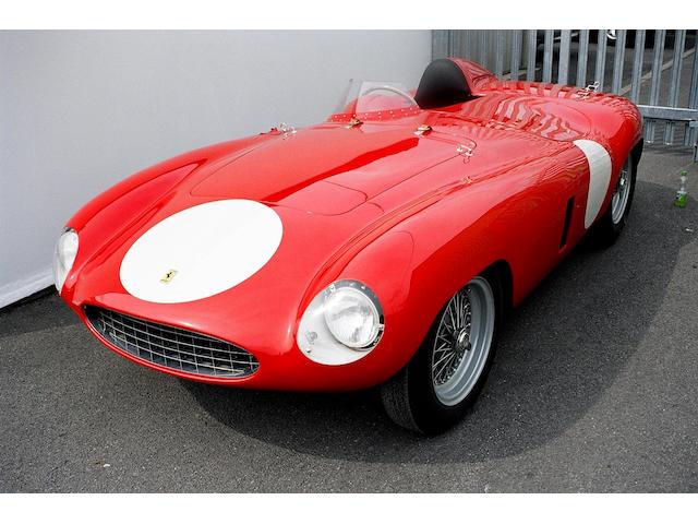 The Ex-works/Sergio Sighinolfi/Jacques Jonneret/Peter Monteverdi,1954-55 Ferrari 750 Monza Spider Corsa Sports-Racing Two-Seater  Chassis no. 0486M Engine no. 0486M