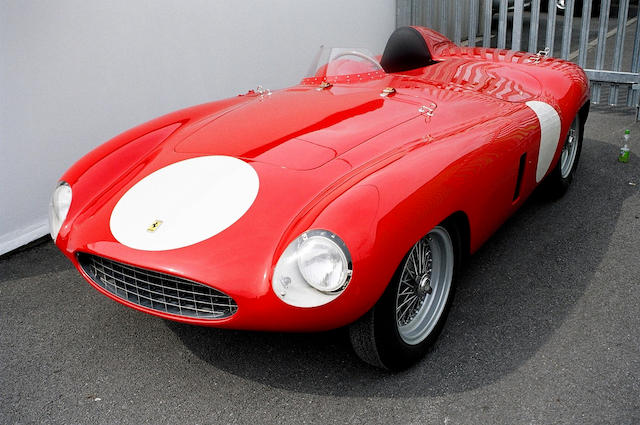 The Ex-works/Sergio Sighinolfi/Jacques Jonneret/Peter Monteverdi,1954-55 Ferrari 750 Monza Spider Corsa Sports-Racing Two-Seater  Chassis no. 0486M Engine no. 0486M