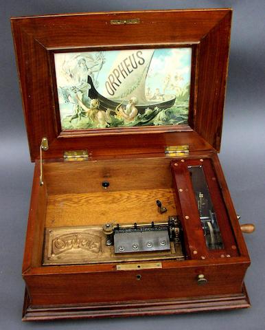 An Orpheus disc musical box,