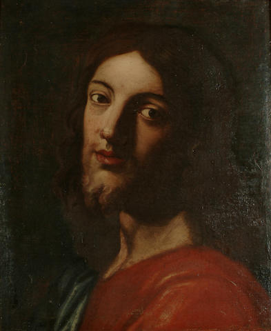 Neapolitan School, 17th Century The Head of Christ, 22 x 18 1/8 in. (56 x 46 cm.)
