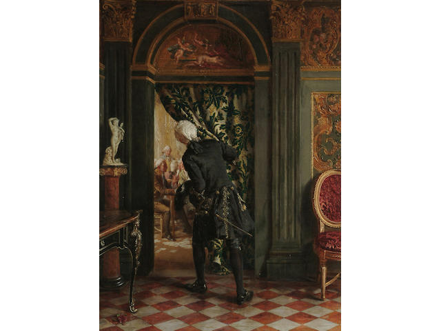 Talbot Hughes (British, 1869-1942) The Card Room, 14 5/8 x 10 3/4in (37 x 27.3cm)