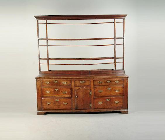 A George III oak Welsh dresser