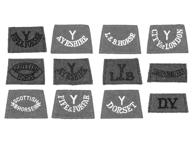 WWI cloth slip-on shoulder titles