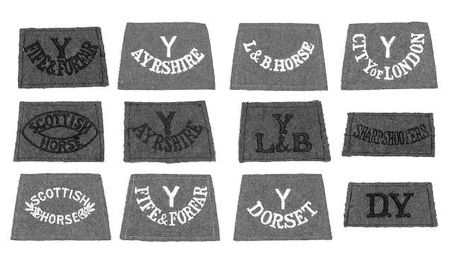 WWI cloth slip-on shoulder titles