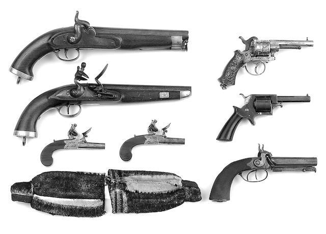 Bonhams : A  32 calibre seven shot rimfire Tranter's Patent