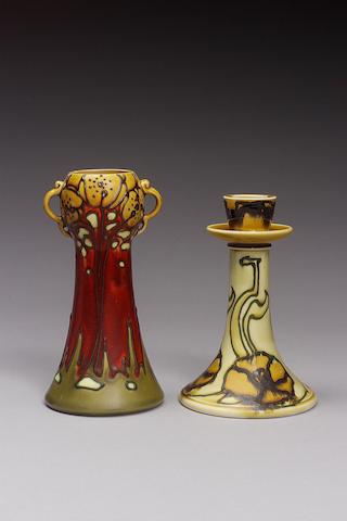 A Secessionist ware crocus vase