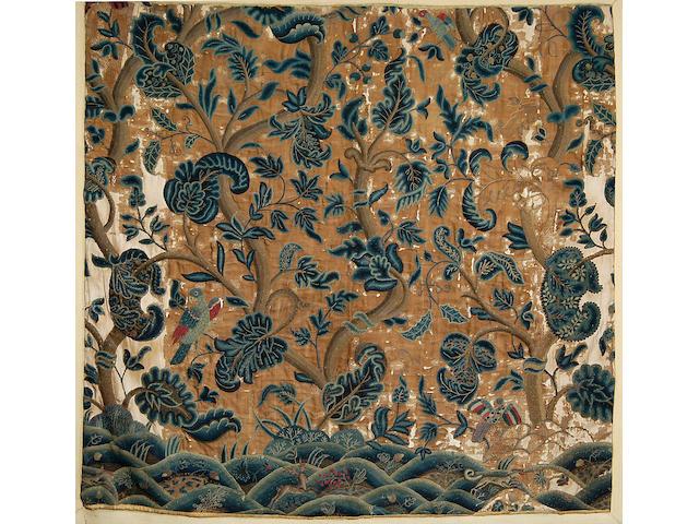 Three woolwork fabric fragments,