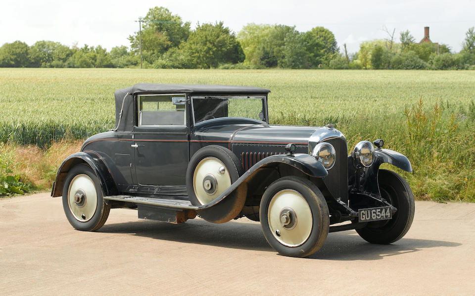 1929 Bentley 4½-litre Two-Seater Drophead Coupé  Chassis no. AB3373 Engine no. AB3374