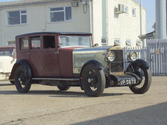 1929 Sunbeam 3-litre Weymann Six-Light Saloon  Chassis no. 4227F Engine no. 4027F