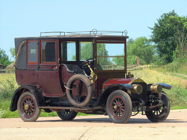 Formerly the property of the late John Cuthill Sword,1910 Armstrong Whitworth 18/22 hp Three-Quarter Landaulette  Chassis no. 227 Engine no. 22-090