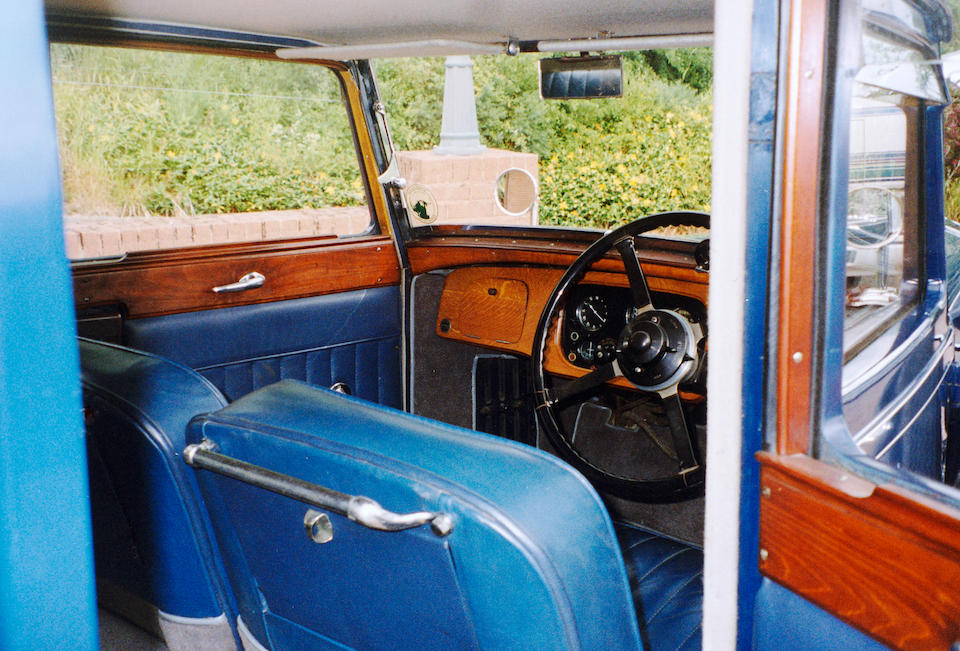1934 Talbot 75 Saloon  Chassis no. 37325 Engine no. AW1035