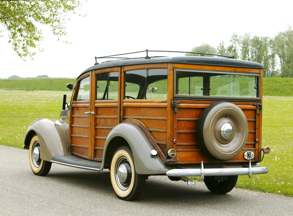 Property of the Max Lips Collection,1937 Ford V8-78 Utility Car Woodie  Chassis no. 18F-3573058 Engine no. 18F-3573058