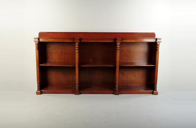A Victorian style mahogany open bookcase