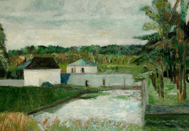 Guy Bardone (French, b.1927) Fontainebleau 25 1/2 x 36 in. (65 x 92cm.)