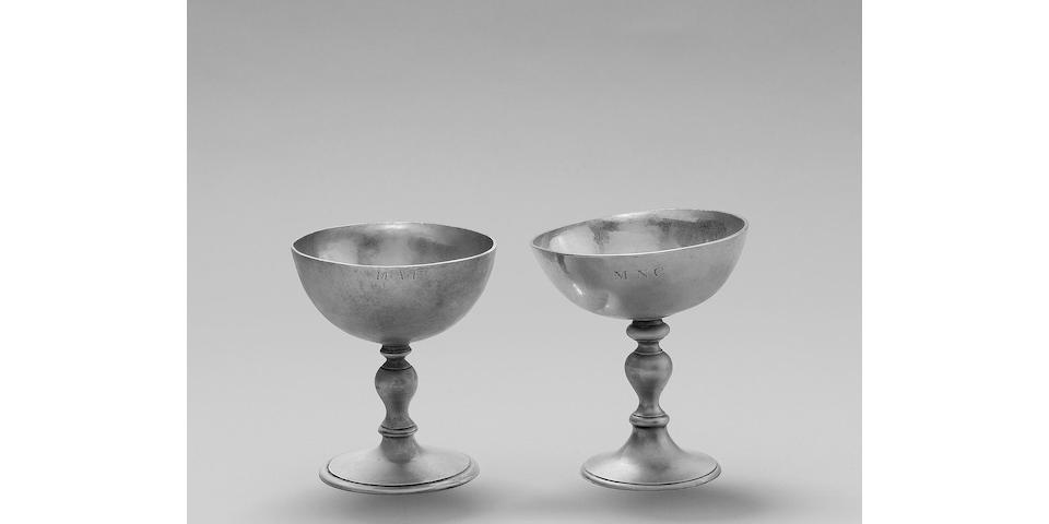 A late 17th century Channel Islands silver Jersey wine cup, by Robert Barbedor, Jersey/Guernsey, circa 1680