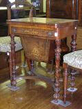 A Victorian inlaid walnut games/work table,