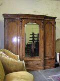 An attractive Victorian mahogany breakfront triple wardrobe,