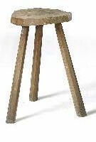 A 19th Century oak primitive stool,