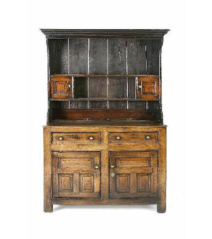 An 18th Century oak high dresser, Denbighshire,