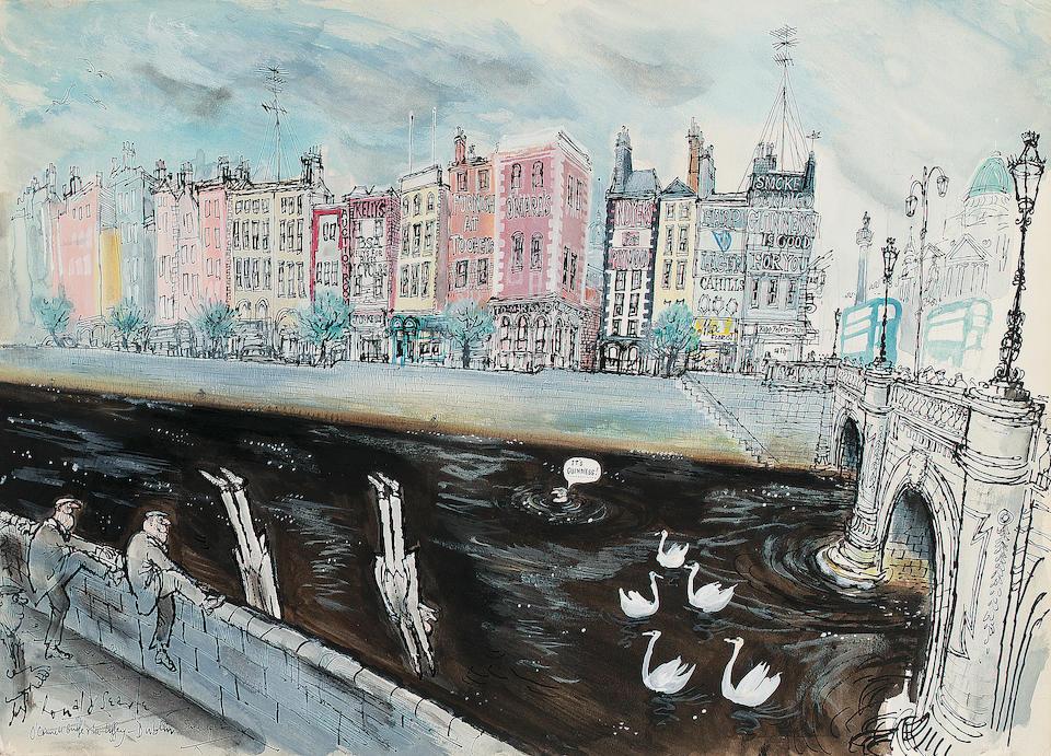 Ronald Searle Watercolour