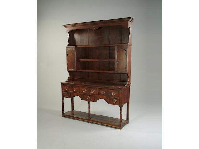 A mid 18th century oak dresser