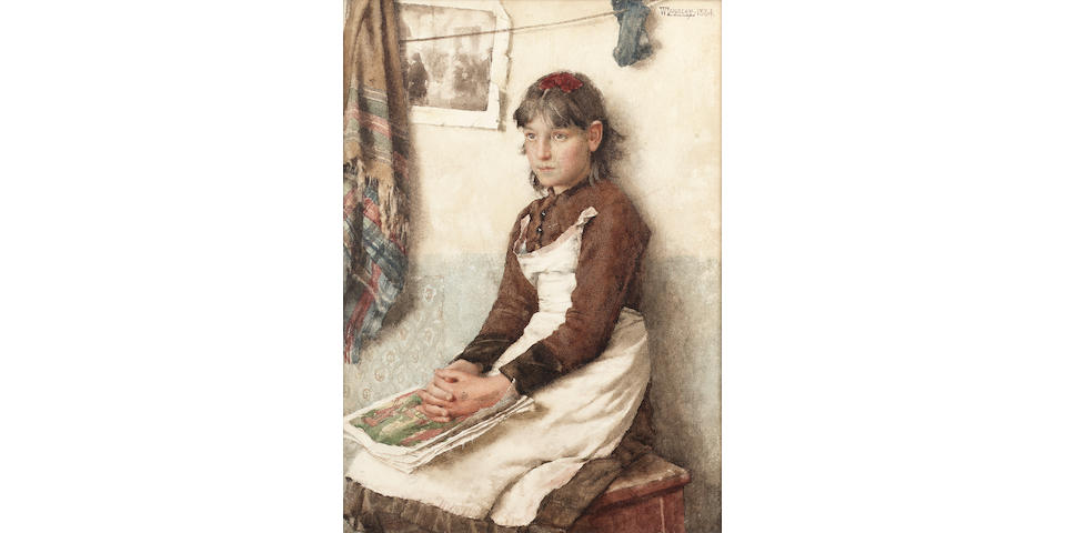 Walter Langley (1852-1922) A Daydream 34.5 x 25 cm. (13 5/8 x 9 7/8 in.)