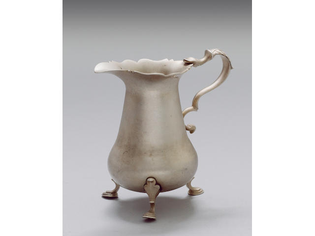 A good 18th century Channel Islands silver cream jug, by Thomas David Mauger, Jersey circa 1750,