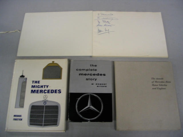 Six books relating to Mercedes and Mercedes-Benz motor cars,