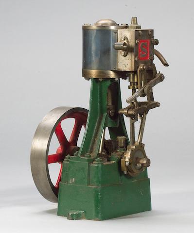 A Stuart reversing vertical Number 5A model steam engine