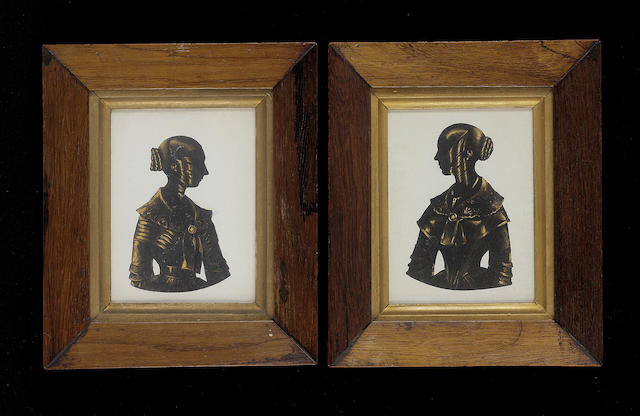 Royal Victoria Gallery, probably H. A. Frith, A pair of silhouettes of Ladies, called Christina and