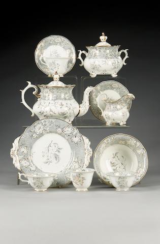 A Rockingham tea and coffee service, circa 1835,