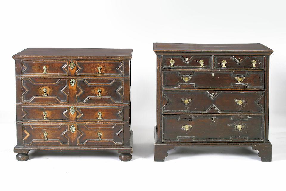 Late 17th century oak chest
