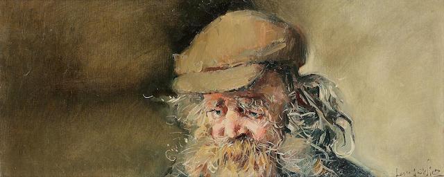 Robert O.Lenkiewicz (1941-2002) Diogenes 25.5 x 61 cm. (10 x 24 in.)