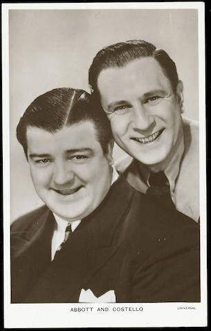 Cinema A collection of male film stars, in a box, in alphabetical order inc. Abbott & Costello, Fred