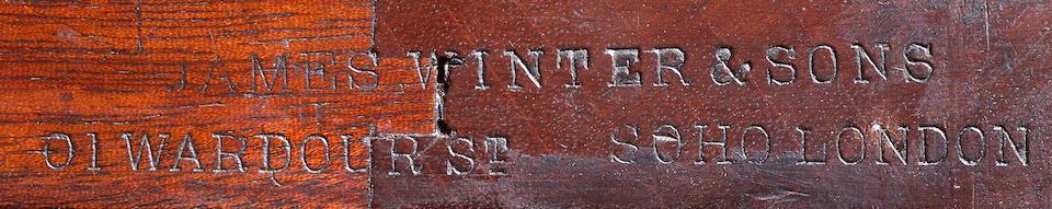A William IV mahogany Sideboard,James Winter & Sons, Wardour St., Soho, London
