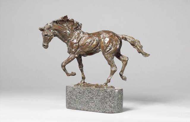 James Osborne (English, 1940-1992): A bronze model of a mare