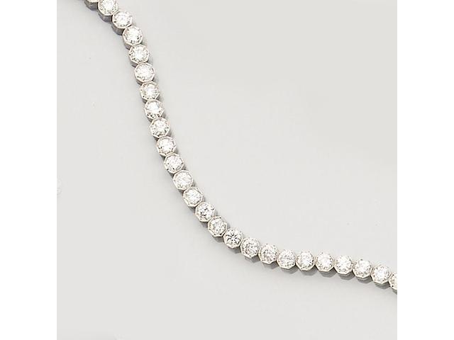A diamond line bracelet,