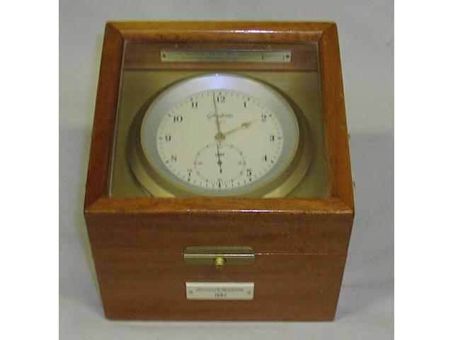 A German quartz marine chronometer, 19 x 19 x 15cm.