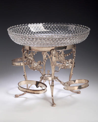 A George III silver epergne, makers mark of G.Eadon, Sheffield 1801,