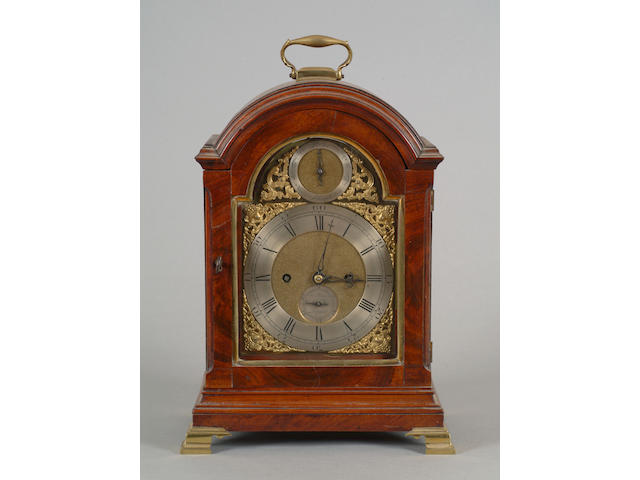A Regency mahogany bracket clock