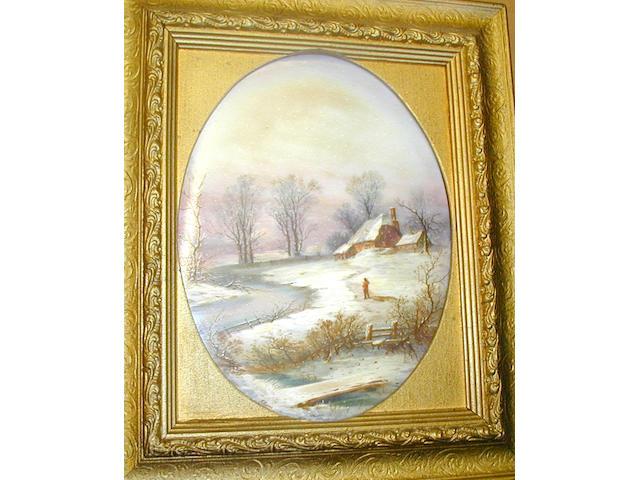An English porcelain plaque,