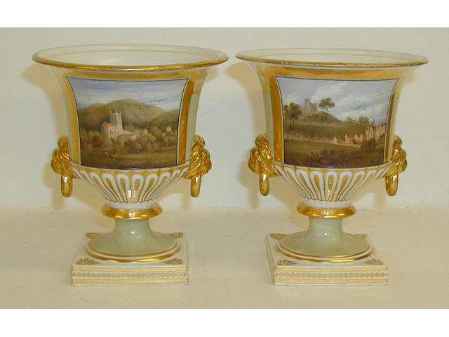 A pair of Chamberlain vases,