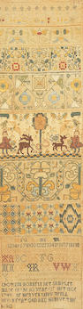 A George II strip sampler,