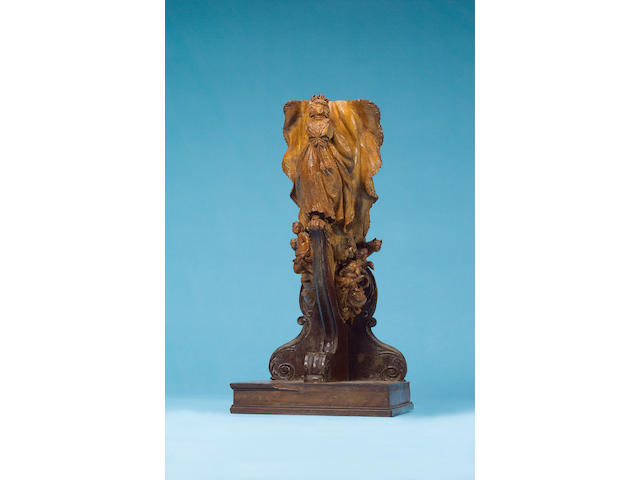 "A Highly Important Carved Limewood Model of the Figurehead HMS ""Queen Charlotte"", circa 1790, Proven"