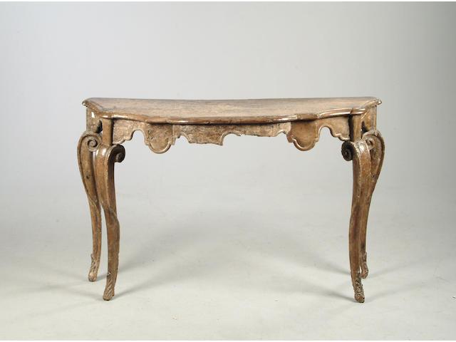 An Italian 18th century walnut console table