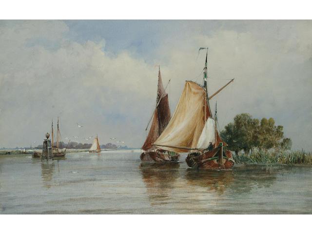 Follower of Thomas Bush Hardy, A Dutch canal, 31 x 49.2cm.