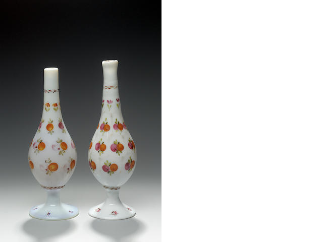 Two Beykos Glass Rosewater Sprinklers Turkey 19th Century(2)
