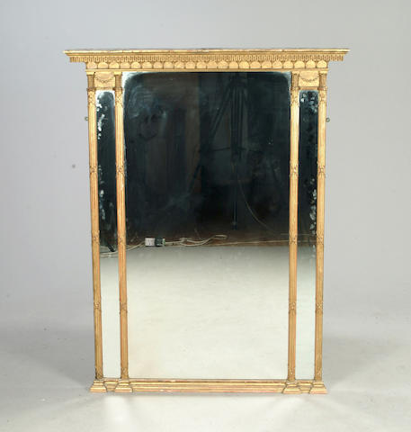 A 19th century giltwood and gesso pier mirror